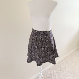 Forever21 black and white fit and flare mini skirt